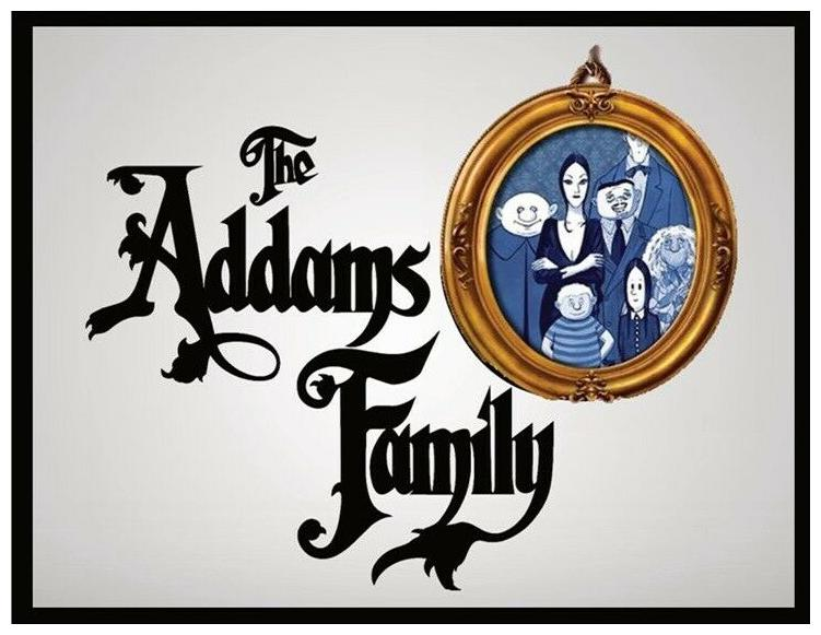 THE ADDAMS FAMILY FRIDGE MAGNET. LARGE 4  X 5 ......FREE SHIPPING