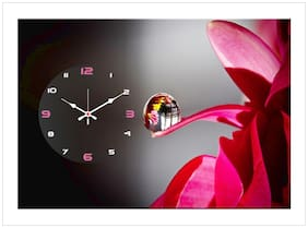 The Craft Company wooden & canvas wall clock Multi Colored ( 30 cm x 40 cm )