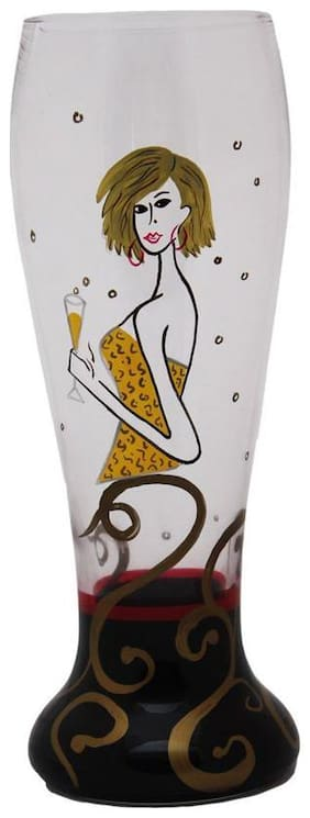 The Crazy Me MS PARTY STARTER Beer Glass (hand Painted)
