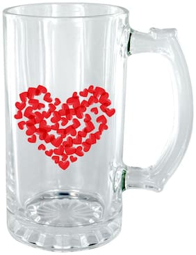 The Crazy Me Heart Clear Beer Mug