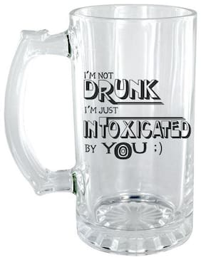 The Crazy Me I'm not Drunk, I'm Just Intoxicated Clear Beer Mug