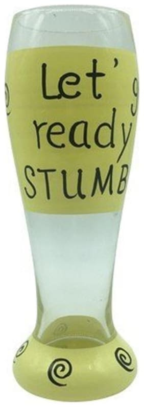 The Crazy Me Get Ready to Stumble Beer Glass