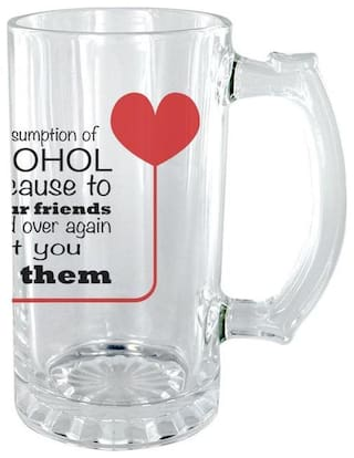The Crazy Me Consumption of Alcohol Clear Beer Mug