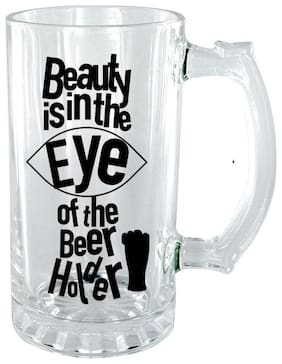 The Crazy Me Beauty is in the Eye of the Beer Holder Clear Beer Mug