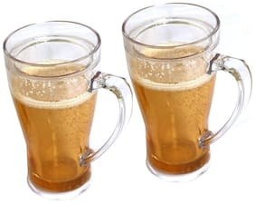 The Home Talk Pack of 2 Beer Mugs, Freeze before use, Coolant movable liquid on outer layer, Best for parties, drinks
