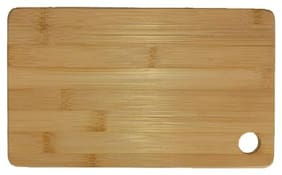 The Indus Valley Bamboo Wood Chopping Board-Small, Reversible with Handle, 25x15 cm