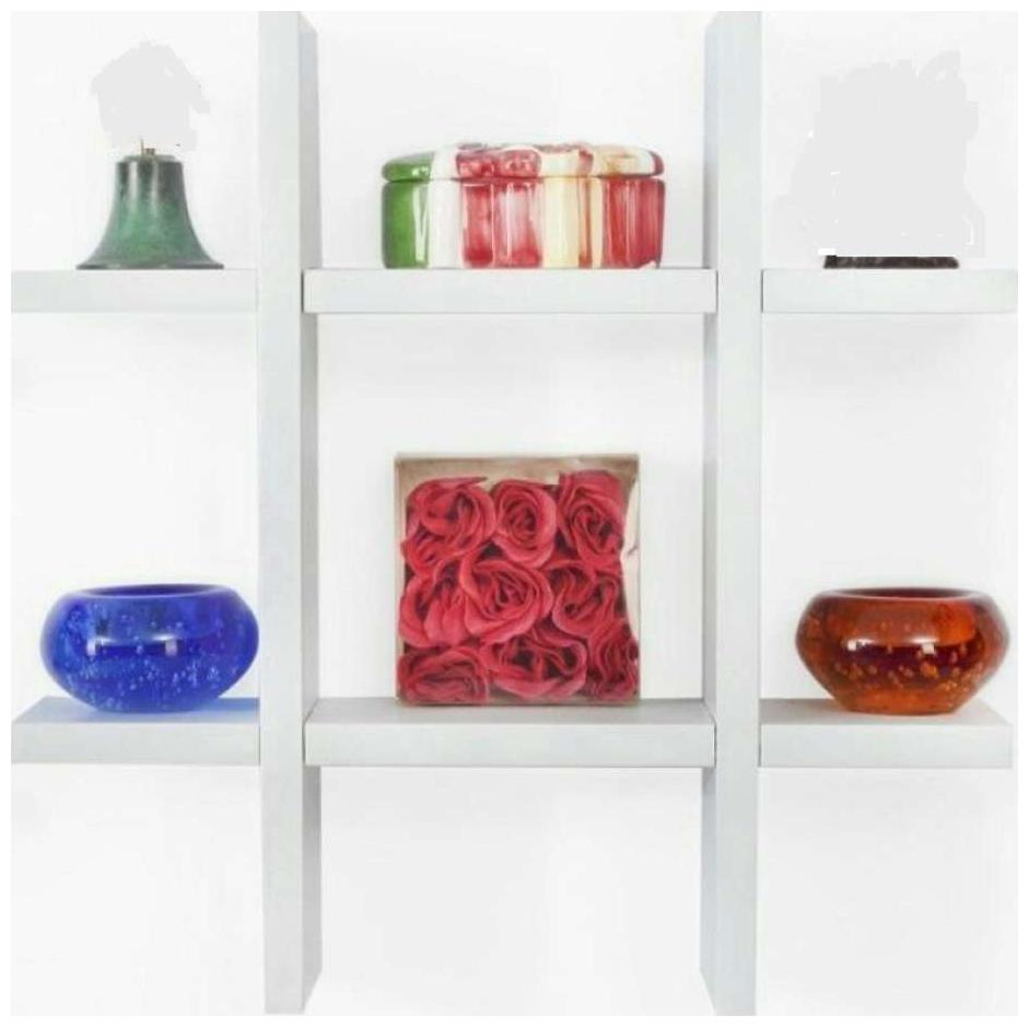 The New Look Plus Style Wooden Wall Shelf White 16X4X16 inch