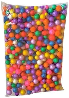 Thermocol Balls Multicolored Small , 30 Gm , Approx 2000 Pecs, Used In Art & Craft , Decorations , Diy Projects