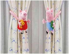 Tickles Peppa George Pig and Peppa Pig Plush Curtain Holder Clip Living Room 16 cm