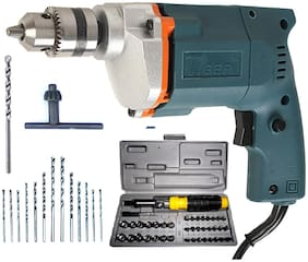 Tiger 10 mm Electric drill Machine With 41 pcs Screwdriver Kit +13HSS Bits +1 Masonry Bit