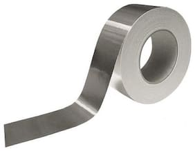 Tjikko Aluminium Foil Tape Self Adhesive 48 Mm Width 20 Meter Length Silver (Set Of 1)