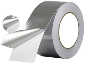 Tjikko Aluminium Foil Tape Self Adhesive 72 Mm Width 20 Meter Length Silver (Set Of 1)