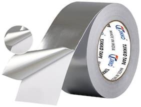 Tjikko Aluminium Foil Tape Self Adhesive 72 Mm Width 20 Meter Length Silver (Set Of 1)