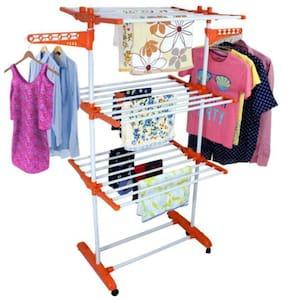 TNC Carbon steel Floor Cloth Dryer ( Orange ,Maximum Load: Upto 10kg kg )