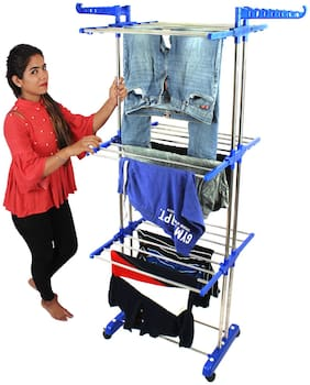 TNC Stainless steel Floor Cloth Dryer ( Blue ,Maximum Load: upto 8kg kg )