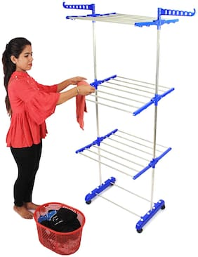 TNC Stainless steel Floor Cloth Dryer ( Blue ,Maximum Load: Upto 10kg kg )