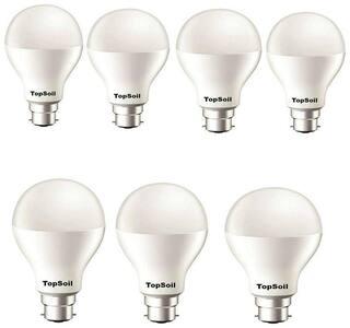 TopSoil 9 Watt B22 LED Bulb (Pack of 7)