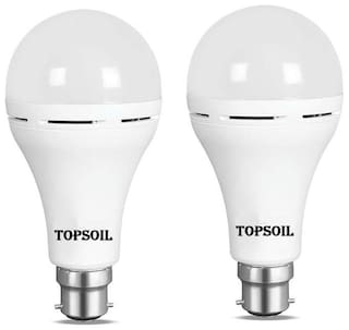Topsoil Rechargeable Inverter Emergency Acdc Led Bulb 9 Watt Power Backup Up To 3 Hours