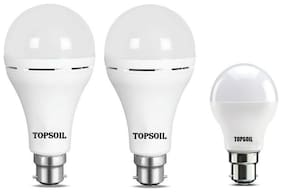 Topsoil Rechargeable Inverter Emergency Led Bulb Pack Of Two Inverter Led Bulb And One Normal 9 Watt Led Bulb