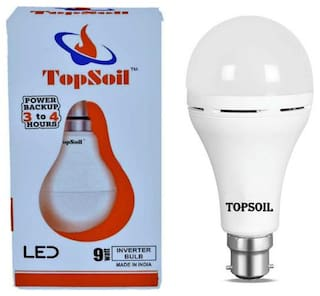 Topsoil Rechargeable Inverter Led Bulb 9 Watt Power Backup Up To 3 Hours Pack Of 1