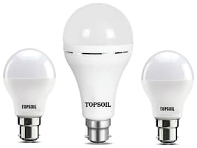 Topsoil Rechargeable Inverter Emergency Led Bulb Pack Of One Inverter Led Bulb And Two Normal 9 Watt Led Bulb