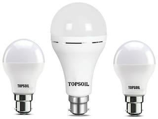 Topsoil Rechargeable Inverter Emergency Led Bulb Pack Of One Inverter Led Bulb And Two Normal 9 Watt Led Bulb