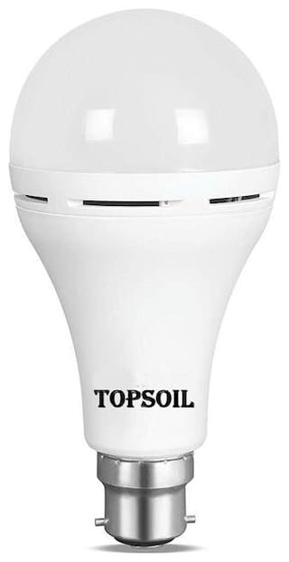 TopSoil Rechargeable Inverter Emergency ACDC LED Bulb 9 Watt Power Backup up to 3 Hours Pack of 1