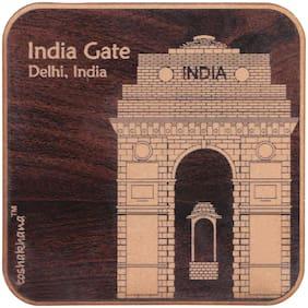 Toshakhana 804 Fridge Magnet MDF Sq Laser Cut India Gate Delhi India