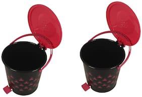 Total Solution Plastic 7 liter Dustbin (Set of 2)