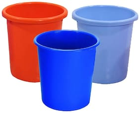 Total Solution Plastic 3 liter Dustbin (Set of 3)