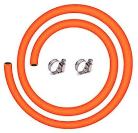 total solution LPG hose gas Pipe with steel wire Pack of 1.