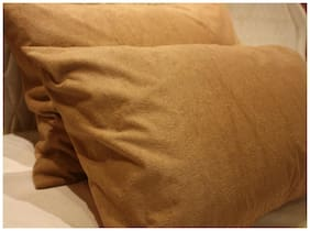 Trance Home Linen Waterproof Pillow Protector Brown Terry 28*18 Set of 2