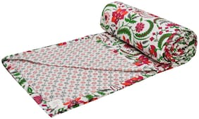 Trance Home Linen Cotton Dohar Double (Firdaus Red -Set of 1)