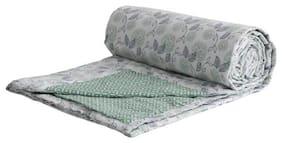 Trance Home Linen Cotton Dohar Double (Spring Green -Set of 1)