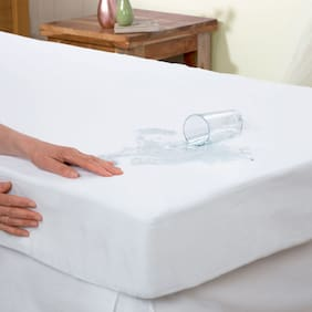 Trance Home linen WaterProof Mattress protector Fitted Sheet White Single 78*36