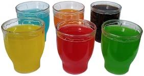 Transparent Unbreakable Plastic Glass Set of 6 Pcs Polycarbonate Drinking Glass/Soft Drink Glass Set/Juice Glasses - (200 ML)