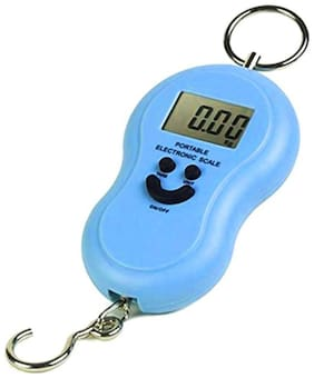 Travel Electronic Digital Blue 50kg Luggage Weighing Scale (Assorted Color) 1Pc