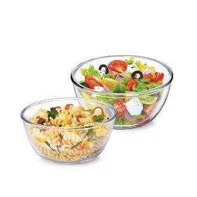 Treo Borosilicate Glass Microwave safe Mixing Bowl Combo of 2 (500;1500ML)