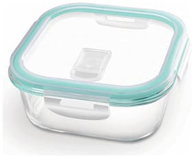 Treo 1 Container Glass Lunch Box Set of 1 ( Transparent ,  320 ml )