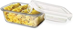 Treo STORE FRESH RECT CONTAINER 1 Container Glass Lunch Box Set of 1 ( Transparent ,  320 ml )
