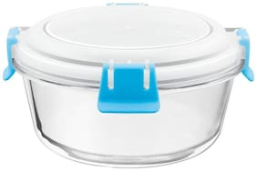 Treo 580 ML Blue Glass Container Set - Set of 1