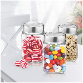 Treo Champ Canisters;Set of 3-Transparent
