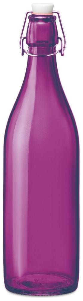 Treo Glass Purple Water Bottle ( 1000 ml , Set of 1 )