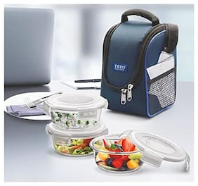 Treo Lunch Box Health First Tiffin Rnd 3pcs Set_Blue