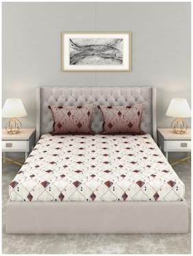 Trident Classsic 210Tc King Size Bed Sheet Painted Desert Rust