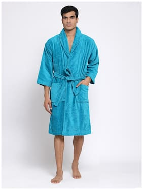 Trident 500 GSM Cotton Bathrobe ( Pack of 1 , Teal )