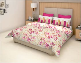 959a9e1bb1 Trident Epitome Pink Floral Double Bed Sheet (DSN-05) (1 PC)