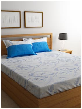 Trident Home Essentails Extra Large Bedsheet - Botanic Blue