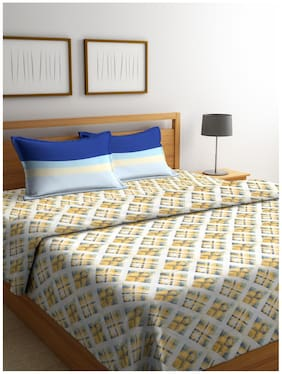 Trident Cotton Abstract Double Size Bedding Set