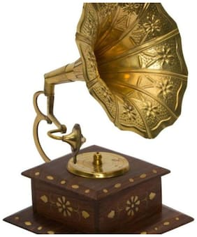 Triple S handicrafts Wooden Assorted Gramophone ( Set of 1 )